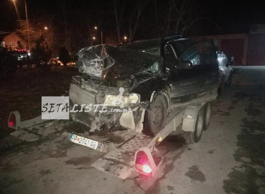 ФОТО: Страшна сообраќајка на патот Прилеп-Македонски Брод вечерва