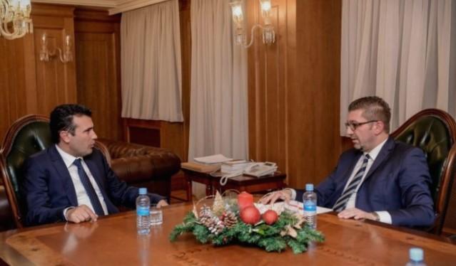 Средба Мицкоски- Заев, ВМРО-ДПМНЕ го добива претседателското место во ДИК