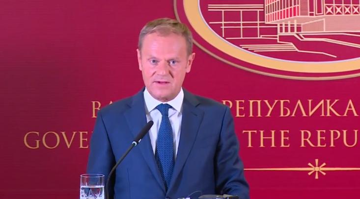 Претседателот на Европскиот совет, Туск утре во посета на Македонија