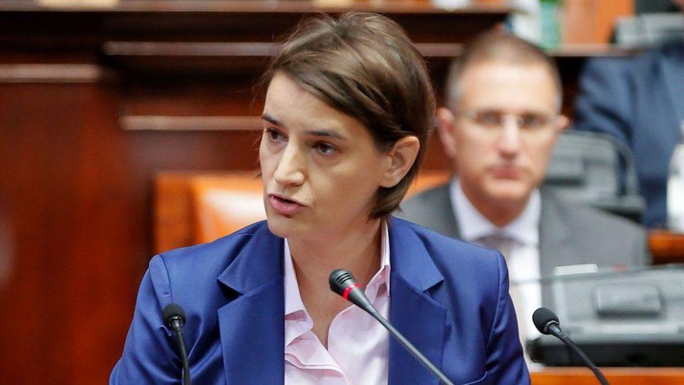 Брнабиќ: Ние сме спремни за преговори со Приштина
