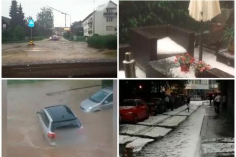 Во Европа невреме: Цел град без вода за пиење, бурата корнела дрва