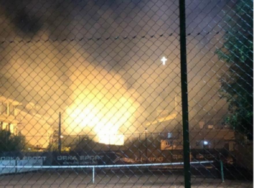 Голем пожар вчера во Тафталиџе