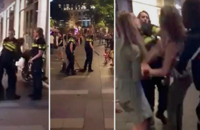 Ужасна глетка: Полицијата прво нокаутира девојка со бокс, потоа ја давеше со пендрек, па ја патосираше (ВИДЕО)