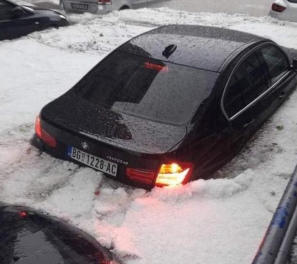 Улиците во Србија под вода – силен дожд и град