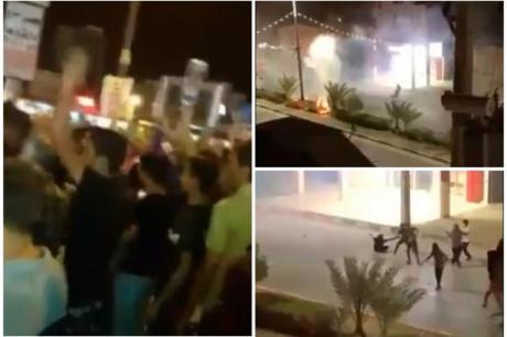 Војна за вода – демонстрантите гаѓаат по полицијата со камења, хаос по улиците (ВИДЕО)