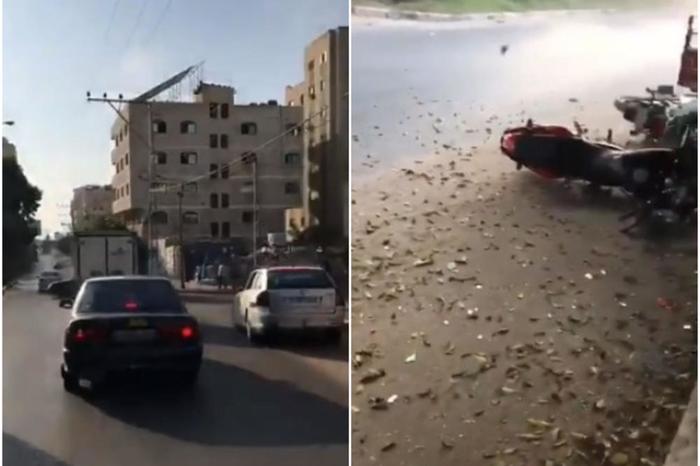 Овој возач имаше многу среќа: Си возеше нормално по улица, а потоа експлозија однесе се