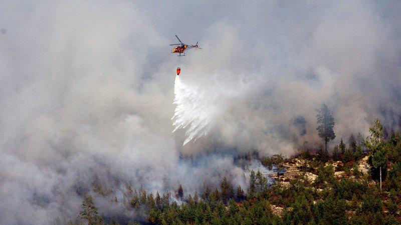 Дождот им помогна на шведските пожарникари во справување со пожарите
