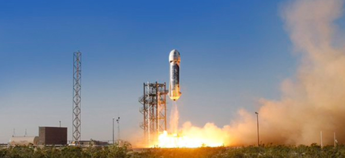 Деветти пробен лет на ракета на Џеф Безос, наменета за вселенски туризам