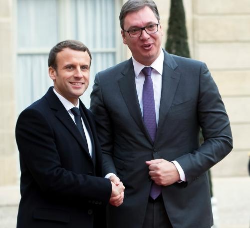 Вучиќ  на средба со Макрон во понеделник во Париз