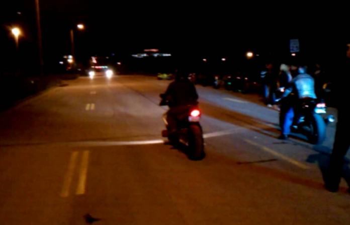 Полициска акција против дивите трки на мотоциклисти во Скопје