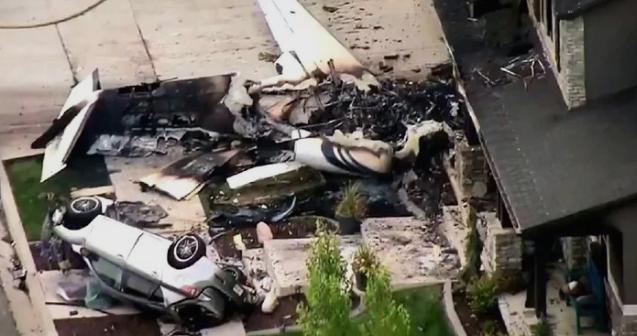 САД: Страшна несреќа, американец со авион се забил во својата куќа, ќе ја убиел сопругата (ВИДЕО)
