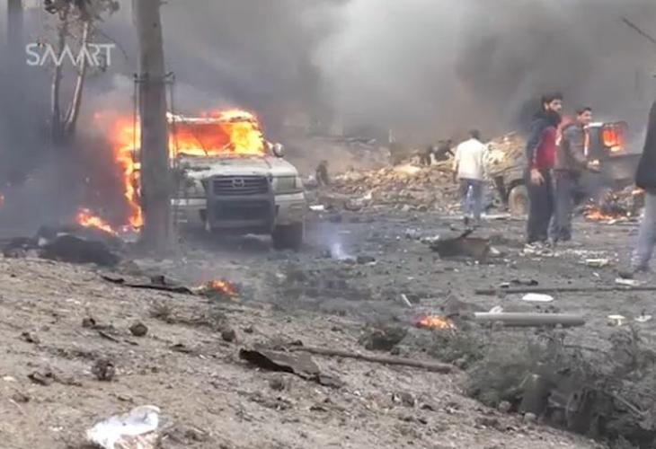 Над 10 лица загинати по експлозија на автомобил-бомба во Сирија