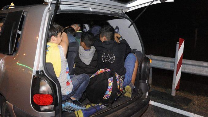 Осум мигранти откриени во возило кај Демир Капија