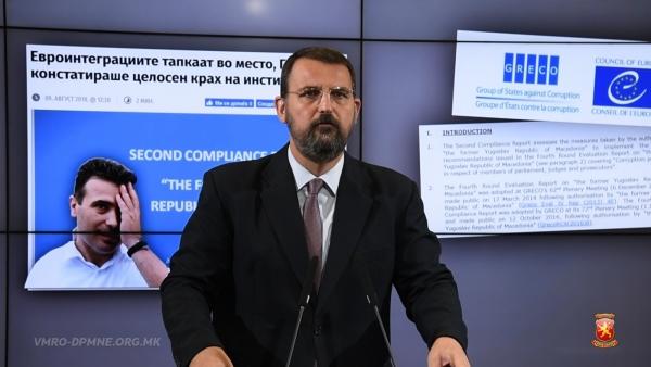 Наум Стоилковски: Македонија е претворена во дувло на криминалот и корупцијата, а тоа доби потврда и од ГРЕКО