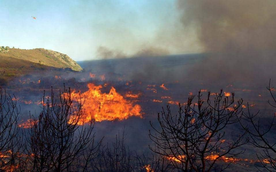 Голем пожар избувна на Закинтос