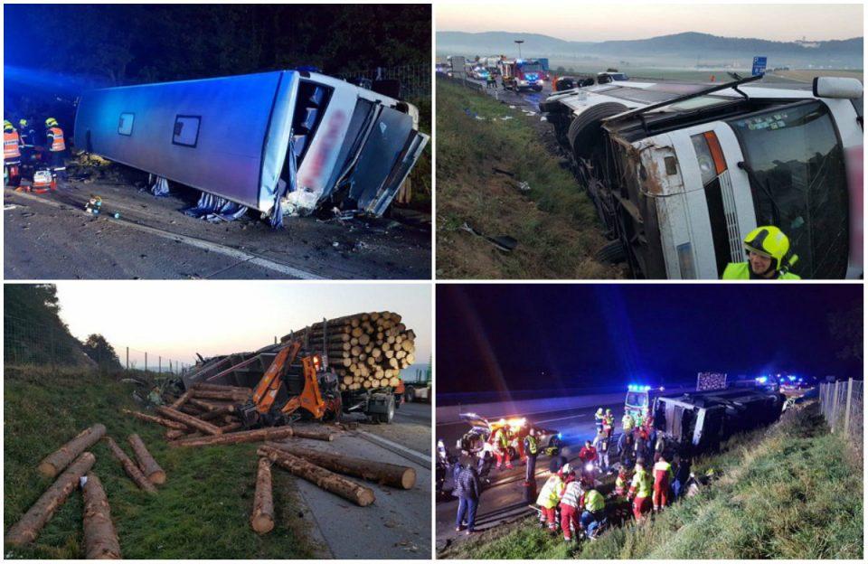 Страшна сообраќајка: Македонски автобус се судри со камион во Австрија – има повредени (ФОТО)