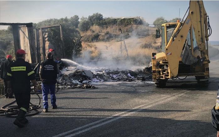 11 лица изгореа живи во сообраќајка на патот Кавала-Солун
