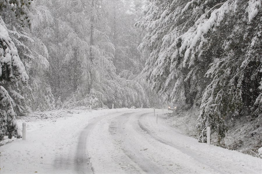 Снег на Деве Баир и на Попова Шапка