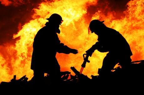 """Пожар во фабриката за велосипеди ,,Рог"""""""