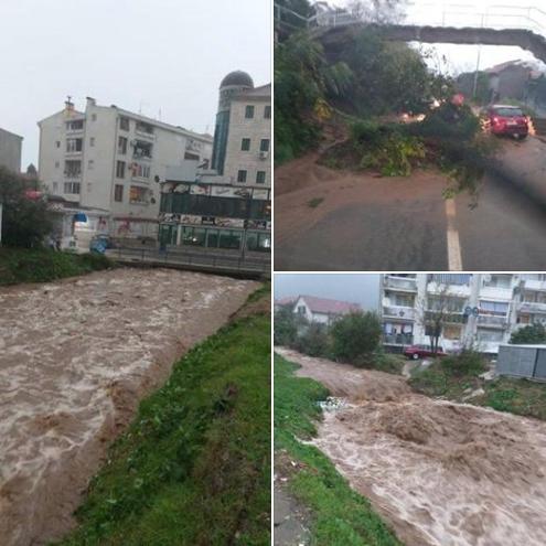 ВИДЕО: Црна Гора под вода, поплавени објекти и паднати дрва