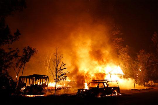Детали за пожарот во изгоре дел од куќа во Трубарево