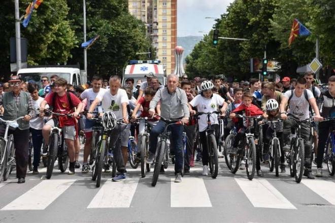 Времен сообраќаен режим во Скопје поради одржување на велосипедска трка