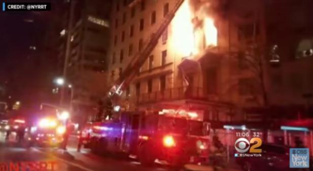 Пожар во зградата на мисијата на Србија во ОН, четворица повредени