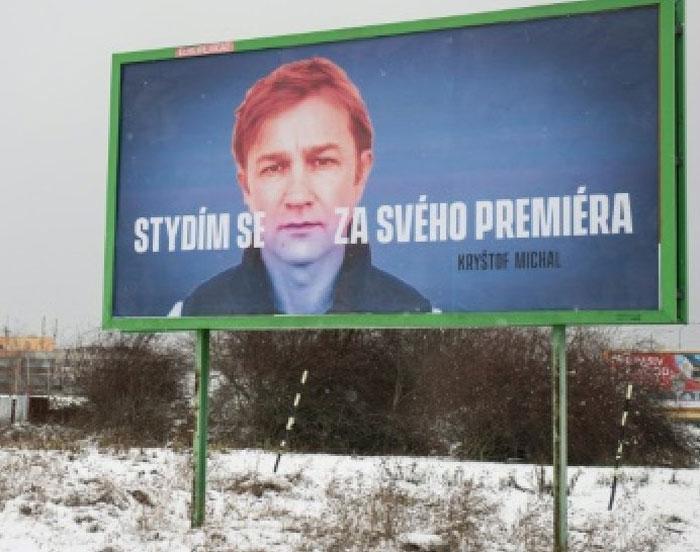 """Во Чешка билборди со порака: ,,Срам ми е од премиерот"""""""