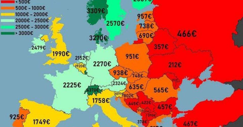 Македонија на дното: Нето-платата една од најниските во Европа