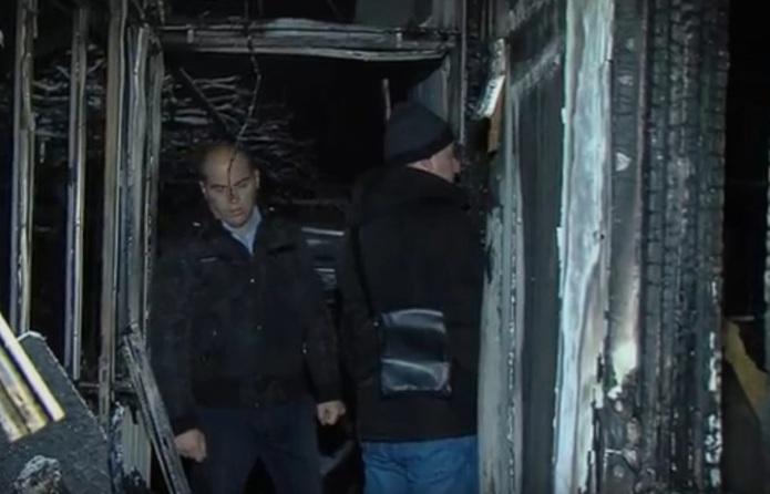 Пожар остави на улица семејство со две малолетни деца од Драчево