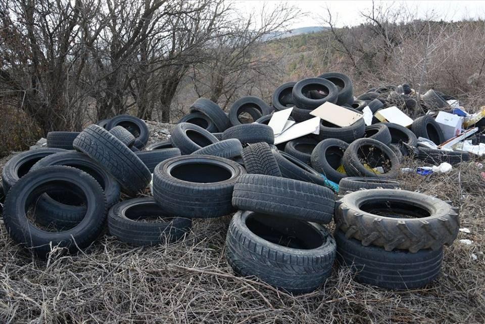 Рсчистена депонија од гуми за греење во општина Карпош