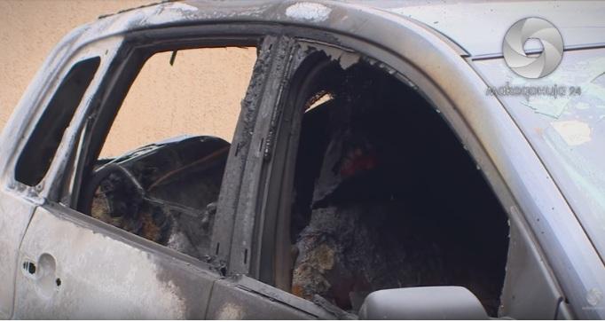 (ФОТО) Запален автомобил на партиски функционер на ВМРО-ДПМНЕ