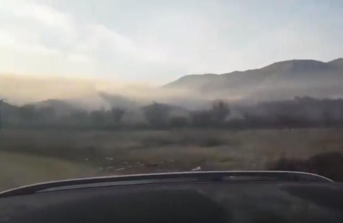 (ВИДЕО) Виница се гуши во чад: Запалената депонија се чувствува и на 15 километри