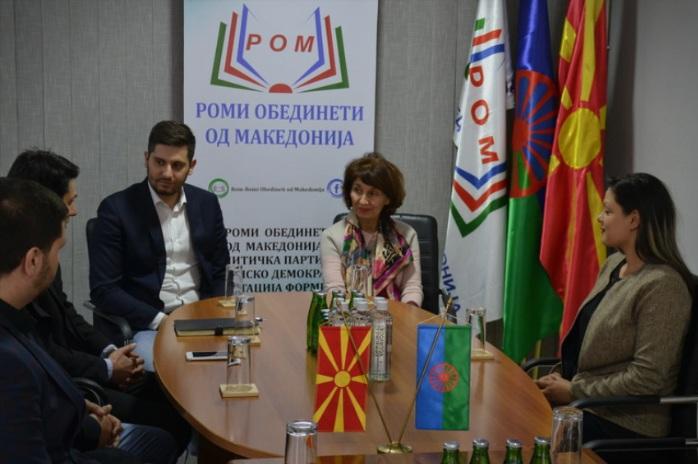 Силјановска: Благодарам за поддршката на Роми обединети од Македонија