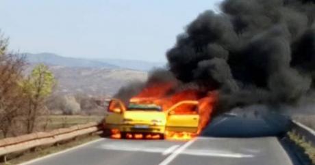 Експлодирал плински уред во автомобил и повредил моторциклист во Скопје