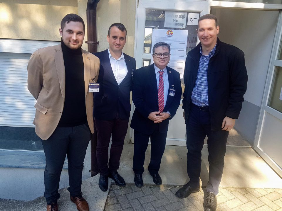 Ѓорчев и францускиот амбасадор Тимоние заедно ги набљудуваа изборите во Грушино – Општина Арачиново