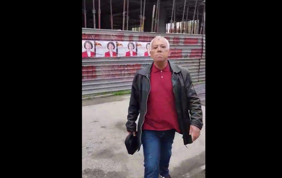 (ВИДЕО) Активист на СДСМ фатен како кине плакати: Јас за тебе сум господин!