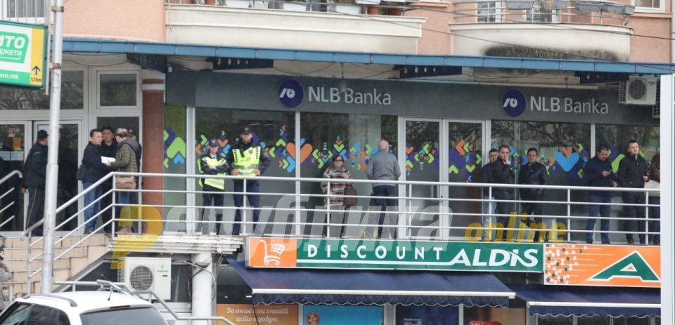 Мерките за безбедност спречиле поголема штета при оружениот грабеж на НЛБ Банка во Ѓорче Петров