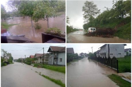 Босна и Хрватска погодени од силното невреме – поплави и предупредување до граѓаните да не излегуваат