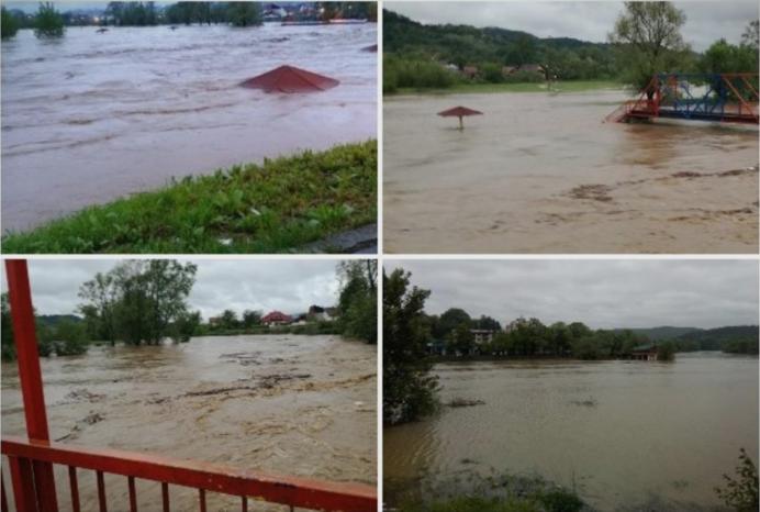 (ВИДЕО) Поплави во Босна –  населението се евакуира, нивото на водата порасна за 126 сантиметри