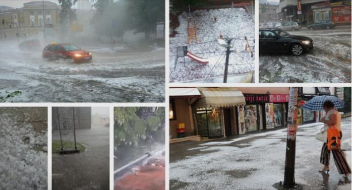 (ВИДЕО) Србија погодена од силно невреме – паѓаше град со големина на лешник