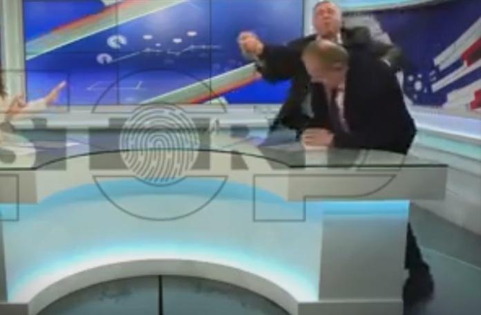 (ВИДЕО) Тепачка во сред емисија во Албанија