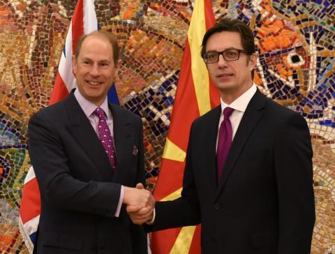 Претседателот му се заблагодари за поддршката на принцот Едвард