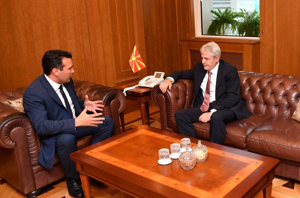 Попладнево средба Заев-Ахмети во Собрание