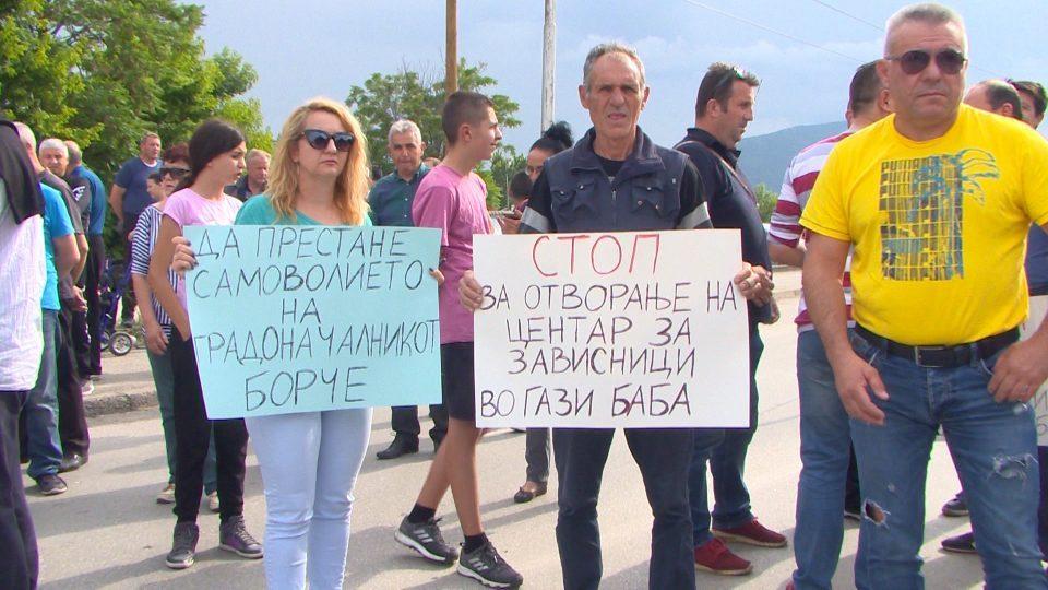 Граѓаните на Гази Баба против отворањето на Центарот за зависници