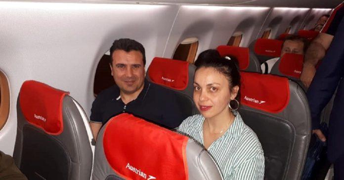 Заев по стапките на Пендаровски: Со комерцијален лет се враќаше од Виена