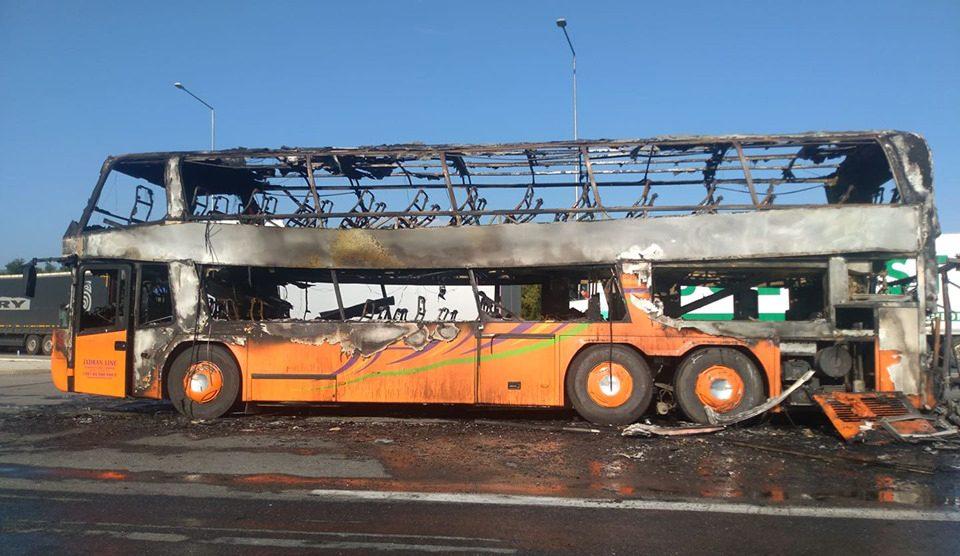 Детали за автобусот кој се запали на Табановце