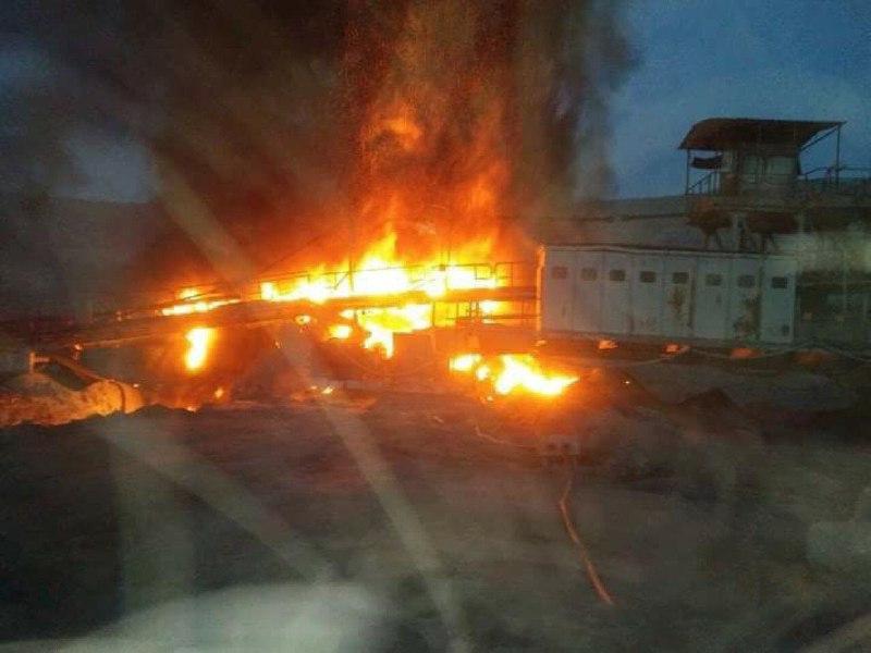 (ФОТО) Пожар во рудникот за јаглен Суводол: РЕК Битола со штета од стотици илјади евра!