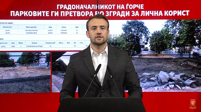 Стојаноски: Градоначалникот на Ѓорче Петров, Александар Наумовски, ќе гради зграда сред парк