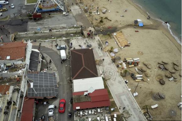(ФОТО) Вака изгледа Халкидики од воздух после вчерашниот ураган